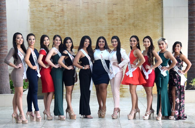 Contestants in the 2018 Miss Universe Guam pageant gather for a photo at the Sheraton Laguna Guam Resort on Aug. 1, 2018. From left: Kirsten Dahilig, Noelle Uy-Tuazon, Athena McNinch, Savana Baza, Erin Blanquisco, Keisha Llarenas, Shaeleen Salas, Cheyenne Santos, Celine Comia, Krystle Malong, Jonessa Leon Guerrero and Kayleann Medina. Joleen Rankin, not pictured, is also competing. The pageant is scheduled for Aug. 15 at the Sheraton, with doors opening at 6 p.m. and show starting at 7 p.m.
