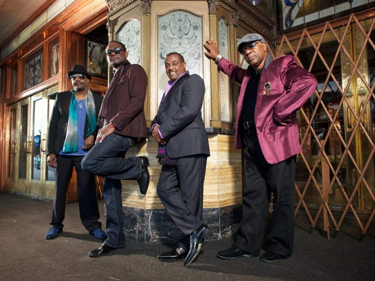 """Kool & the Gang (from left, Ronald Bell, George Brown, Robert """"Kool"""" Bell and Dennis Thomas) will perform Aug. 9 at the Indiana State Fair."""