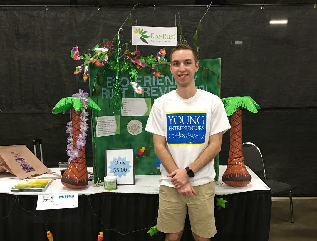 Noah Smith, Campbell County High School senior, founder and CEO of Eco-Rust.