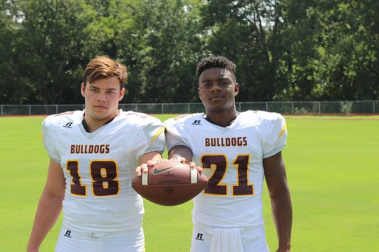 Iota junior running backs Luke Doucet (18) and Kollin Guillory (18) should form one of the area's best backfield tandems.