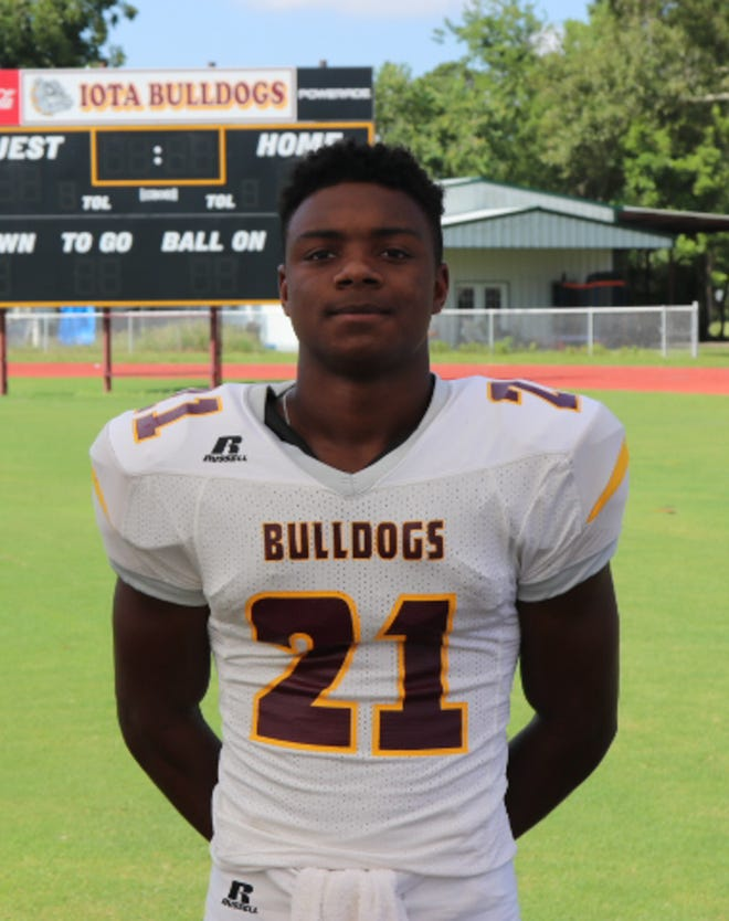 Kollin Guillory eclipsed the 200-yard mark to lead Iota to a dominating win over Northwest in the District 5-3A opener.