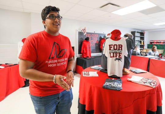 """Former PRP student Shaval Patel managed the school store, known as the """"Panther Pit,"""" as a part of the school's business academy. April 9, 2018"""