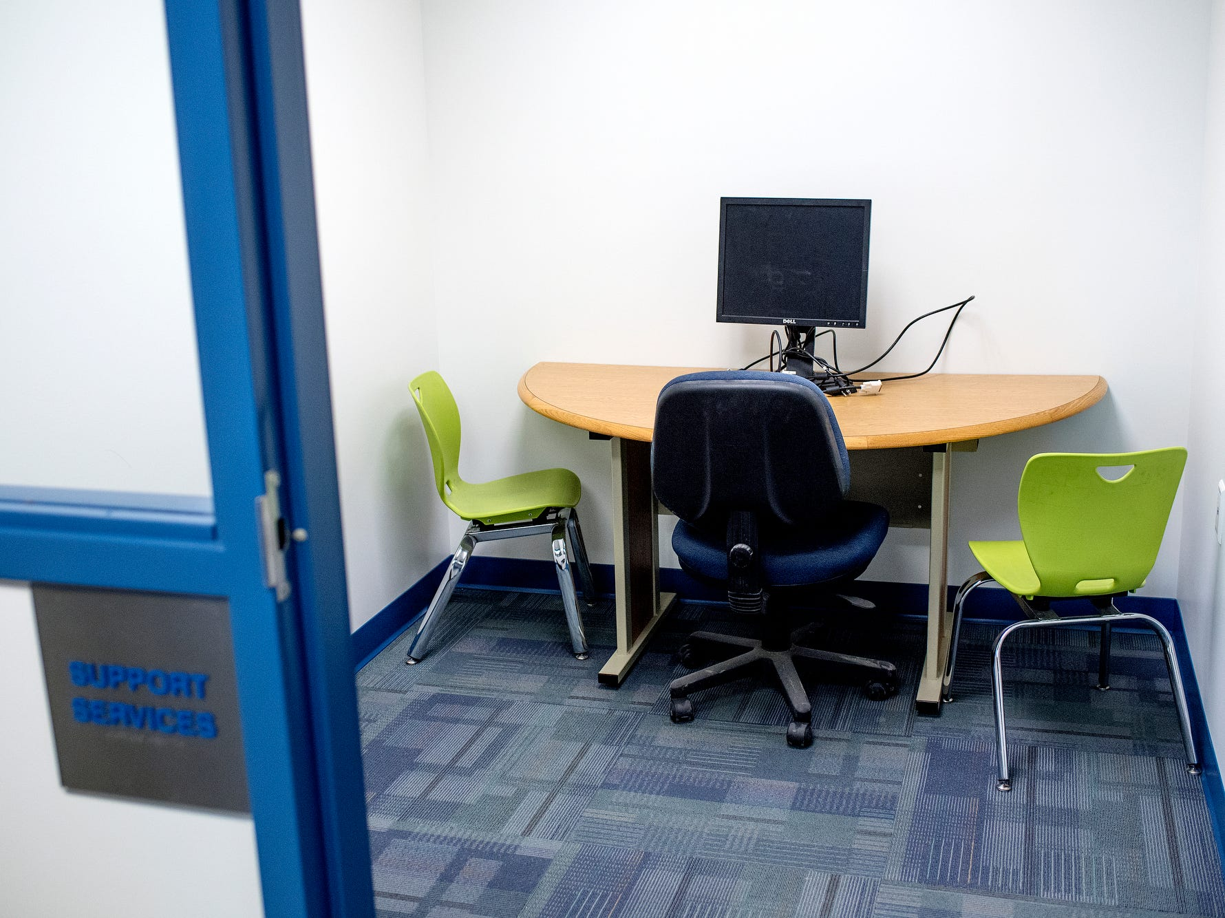 A support services room photographed on Wednesday, Aug. 1, 2018, at Cole Academy's East Lansing campus. The school, Cole Academy's second campus, is opening this fall.