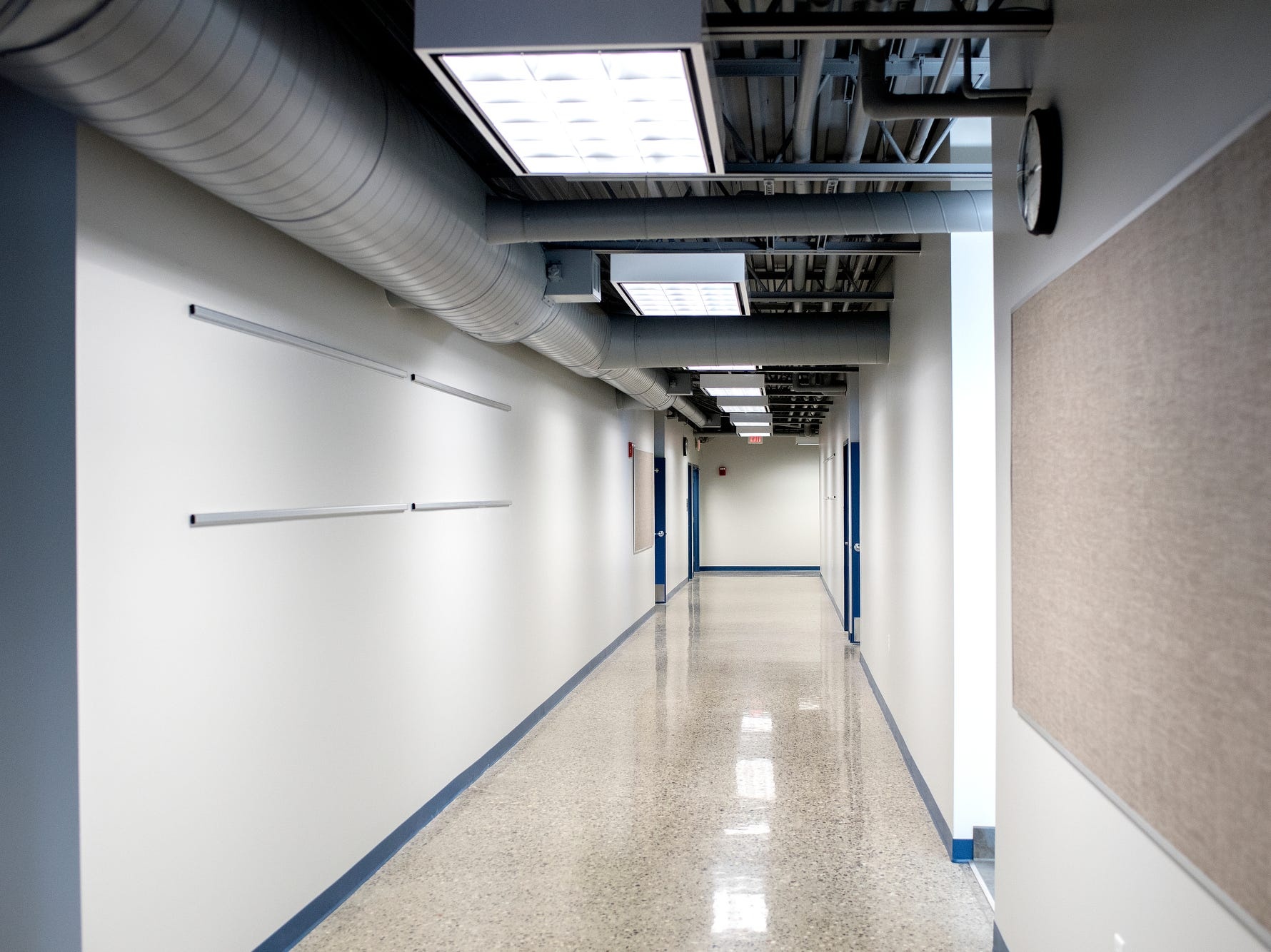 A hallway at Cole Academy's East Lansing campus photographed on Wednesday, Aug. 1, 2018. The school, Cole Academy's second campus, is opening this fall.