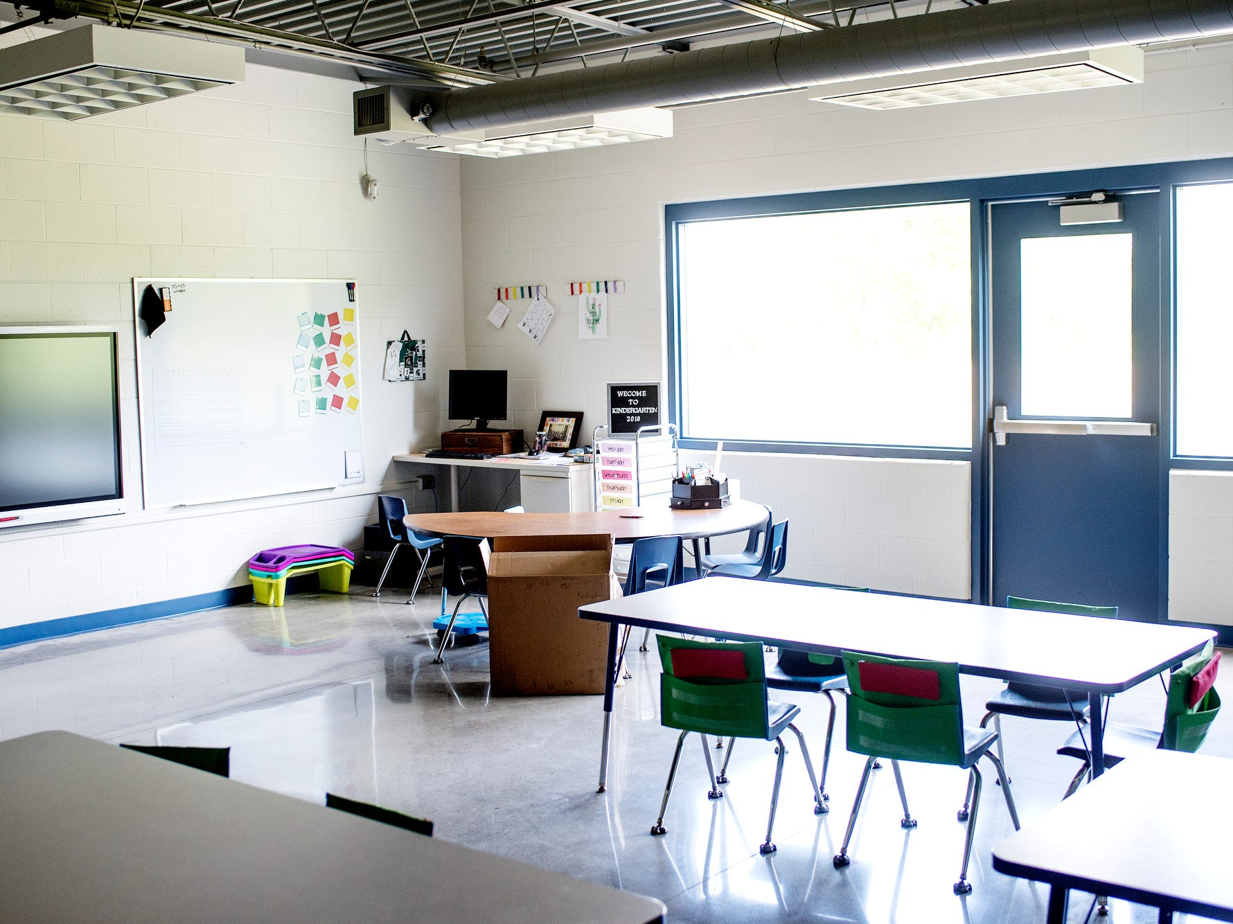 A classroom photographed on Wednesday, Aug. 1, 2018, at Cole Academy's East Lansing campus. The school, Cole Academy's second campus, is opening this fall.