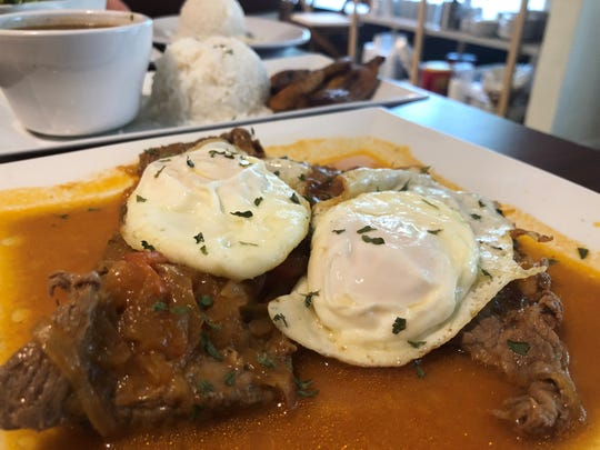 The bistec a caballo from The Colombian Kitchen, Bonita Springs.