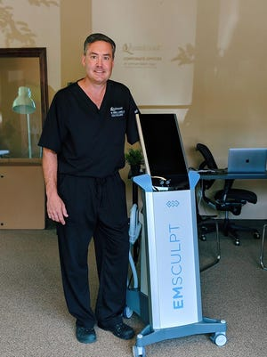 Dr. Andrew Campbell, the founder of Quintessa Aesthetic Center, has the first medical practice in Wisconsin to offer EMSculpt technology, which claims to tone muscle through electromagnetic pulses.