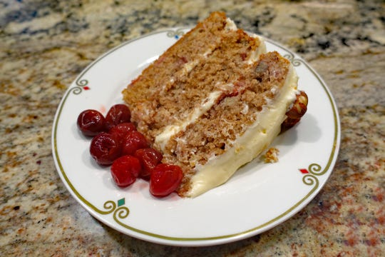The three-layer Robin Cake is a cherry lover's delight.