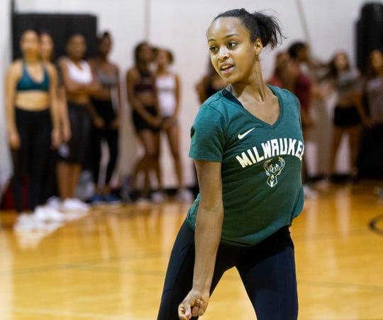 Tasia Carr was part of the 2017-'18 Milwaukee Bucks dance squad.