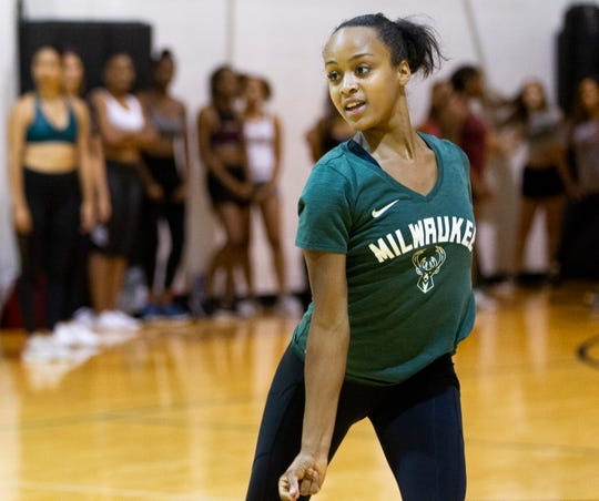 Tasia Carr was part of the 2017-'18 Milwaukee Bucks dance squad.