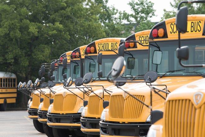 Montgomery Public School buses in Montgomery, Ala.