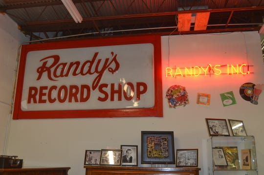 The Sumner County Museum displays signs and memorabilia from Randy's Record Shop in Gallatin.
