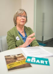 Betsy Dale Adams, of Gulf Breeze, talks Wednesday about a three-day conference in Atlanta, Gun Sense University, that she will attend. The conference explores bipartisan waysofkeeping firearms out of the hands of dangerous people.
