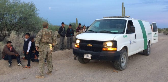 Border Patrol agents apprehend a group of 95 undocumented immigrants about eight miles west of the Lukeville Point of Entry