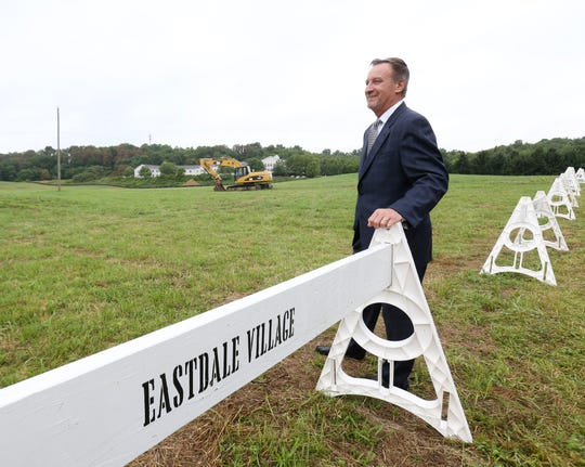 Joseph Kirchhoff at the site of the future Eastdale Village in the Town of Poughkeepsie following a groundbreaking ceremony on August 1, 2018.