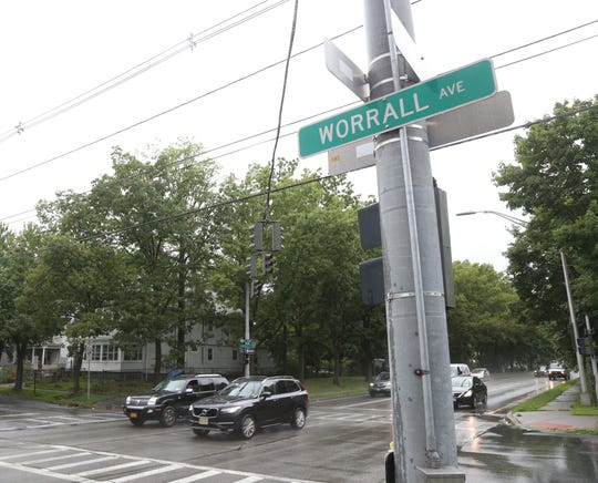 The intersection of the Eastbound Arterial and Worrall Avenue in the City of Poughkeepsie on August 1, 2018. Shawn and Patricia Wonderly were killed on August 1, 2012 when Ryan Floryan ran a red light and hit their car,