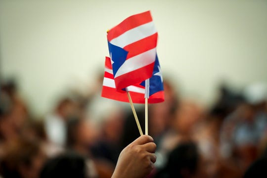About 100 people turned out for a Puerto Rico Relief rally at Calvary United Methodist Church in York, sponsored by CASA, a regional organization advocating for Latino and immigrant rights, Monday, July 23, 2018. John A. Pavoncello photo