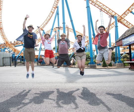 Nik Olson, right, performs with The Waves this summer at Hersheypark.