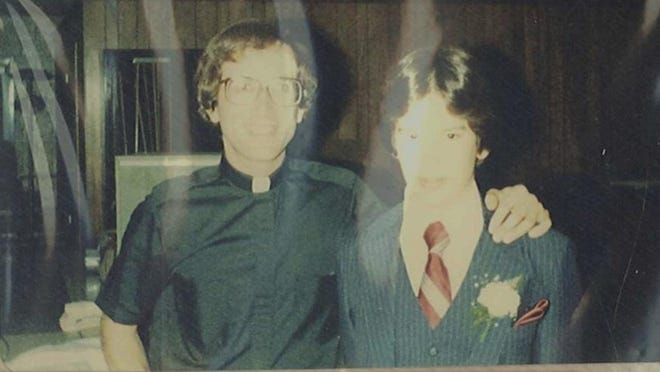 Guy Marsico, left, with Todd Frey, in the early 1980s. Marsico was among more than 70 priests and clergy the Diocese of Harrisburg said Wednesday had been accused of sexually abusing or having in appropriate contact with children. Frey said Marsico abused him.