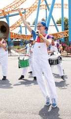 Nik Olson performs with The Waves this summer at Hersheypark.