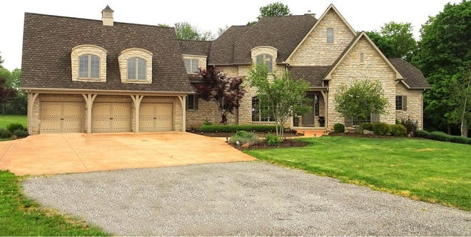 This home near I-70 in Centerville, Ind., holds four bedrooms, 6.5 bathrooms and more than 6,700 square feet of living space.