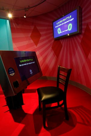 The laugh battle room at the National Comedy Center in Jamestown