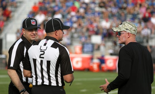 Bills head coach Sean McDermott gets a chance to chat with NFL officials who visited training camp today.  McDermott said he hopes the officials can bring some clarity to any new rule changes installed this season.