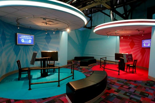 "The National Comedy Center includes a ""laugh battle"" room"