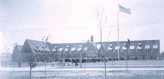 The American Club in 1918 during its dedication. On Sunday, August 5, the luxury hotel celebrates its 100th birthday.