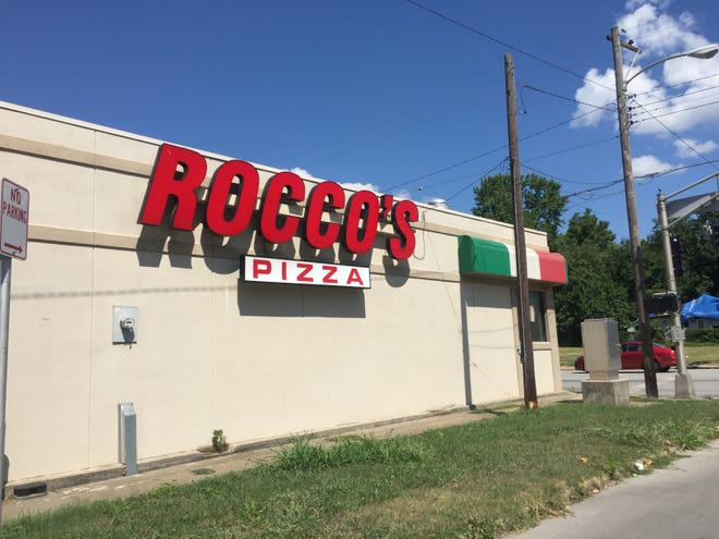 Rocco's Pizza at the intersection of Division Street and Sherman Avenue in Springfield.