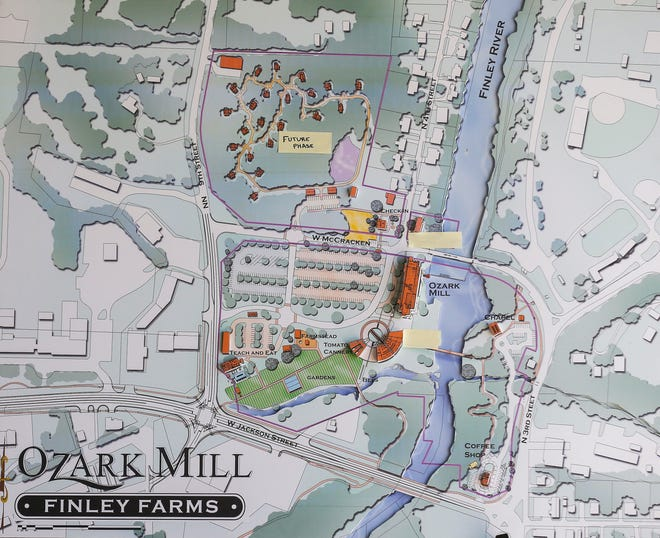 A rendering of Bass Pro Shops plans for the Ozark Mill along the Finley River in Ozark.