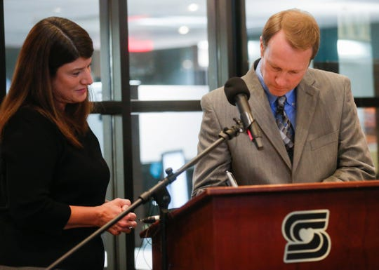 City Manager Jason Gage, shown during his swearing-in in 2018, said ...