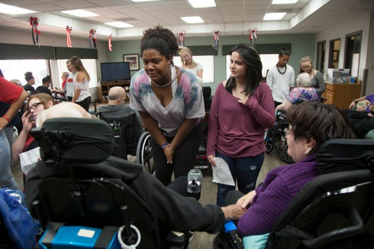 Members of Team RAW visited St. George Rehabilitation on Tuesday, July 31, 2018, to perform.