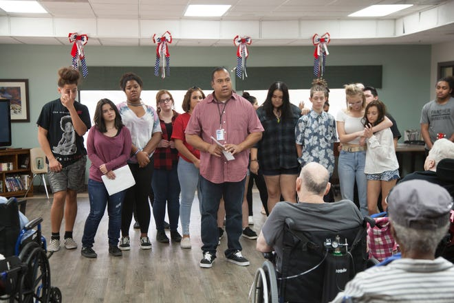 Members of Team RAW sang and danced at St. George Rehabilitation on Tuesday, July 31, 2018.