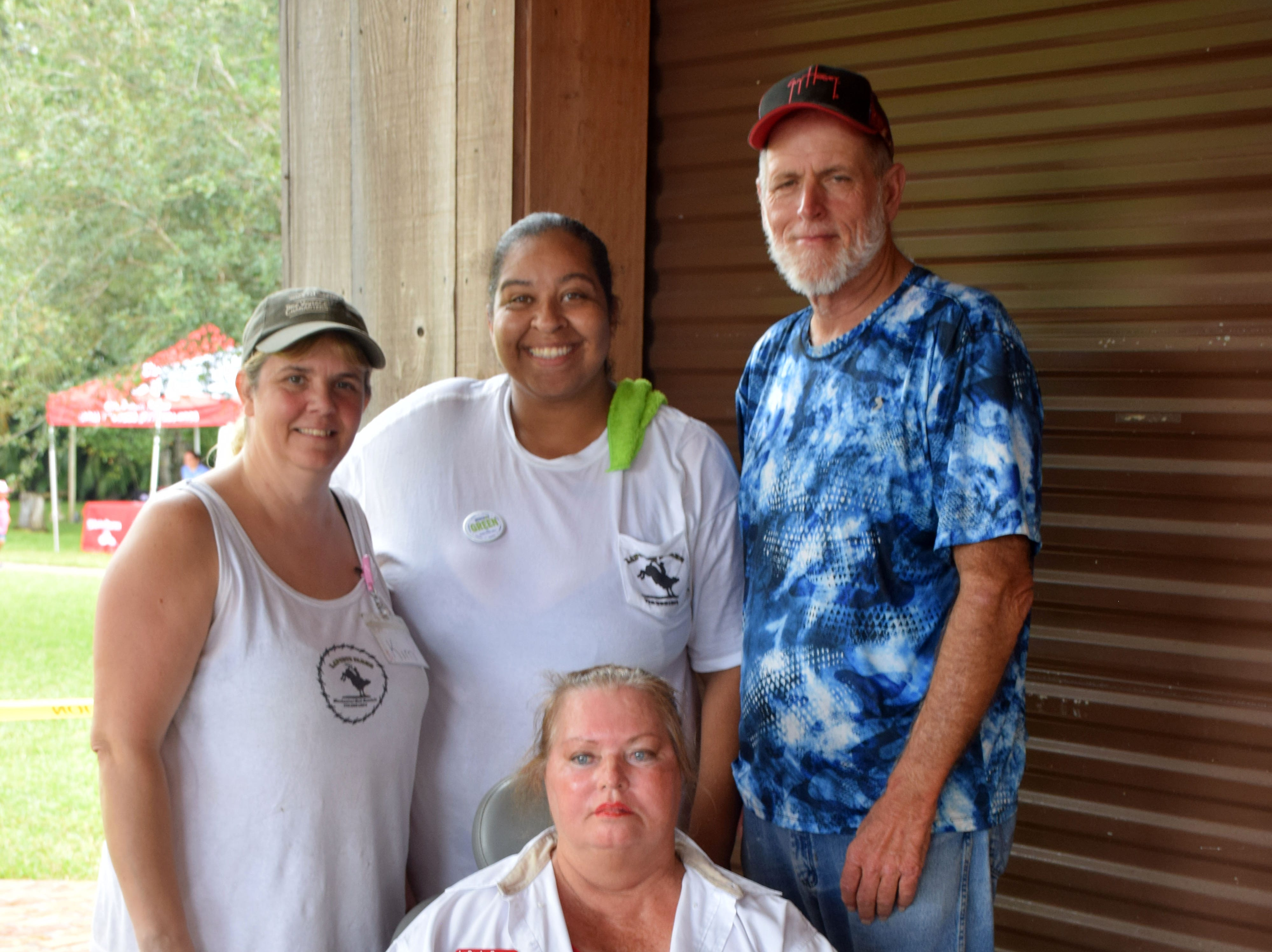 Event volunteers Kim Bohall, Don Molony, Edward Hamilton and Laura LaPorte.
