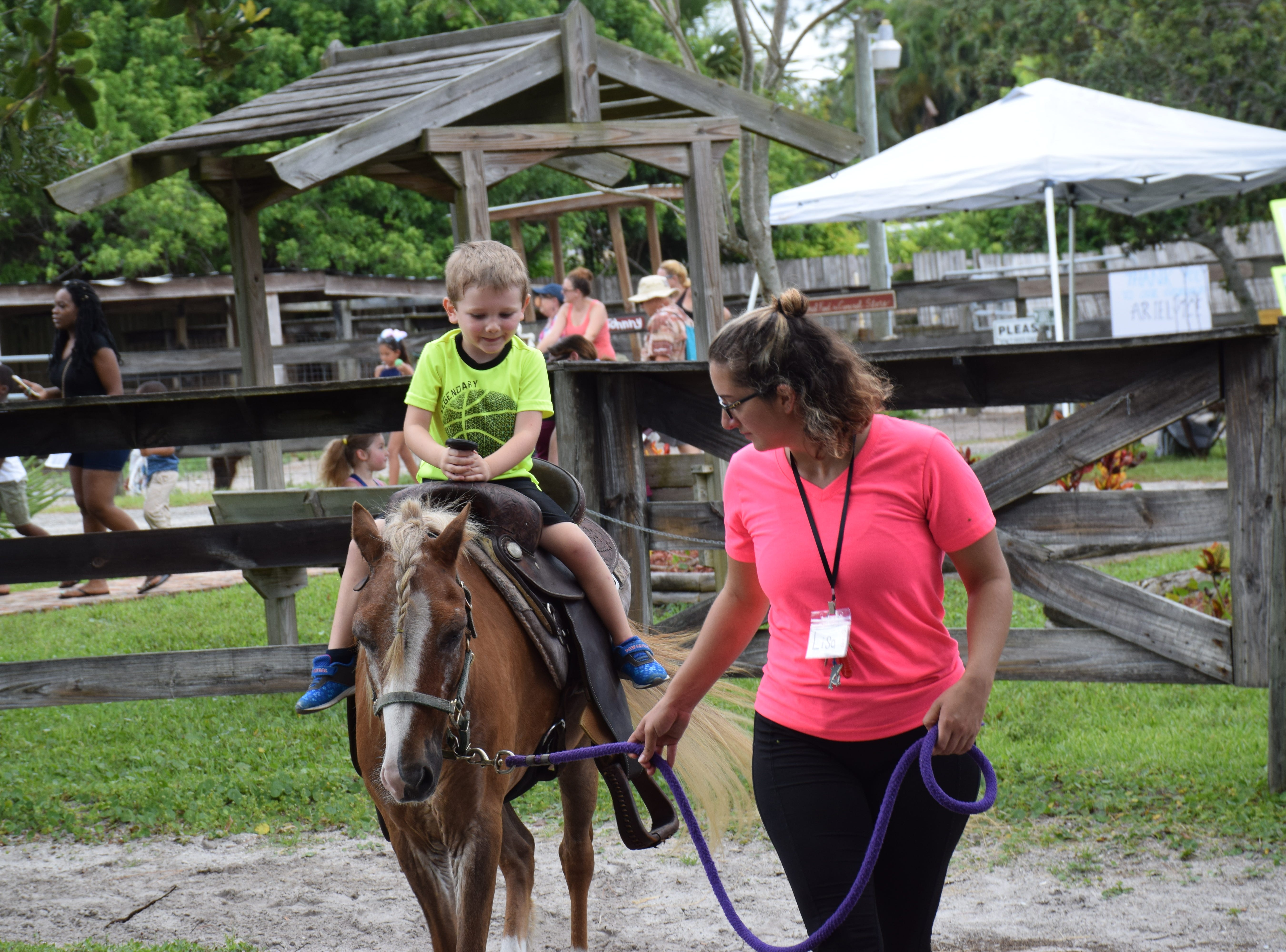 The pony ride was one of the favorite attractions.