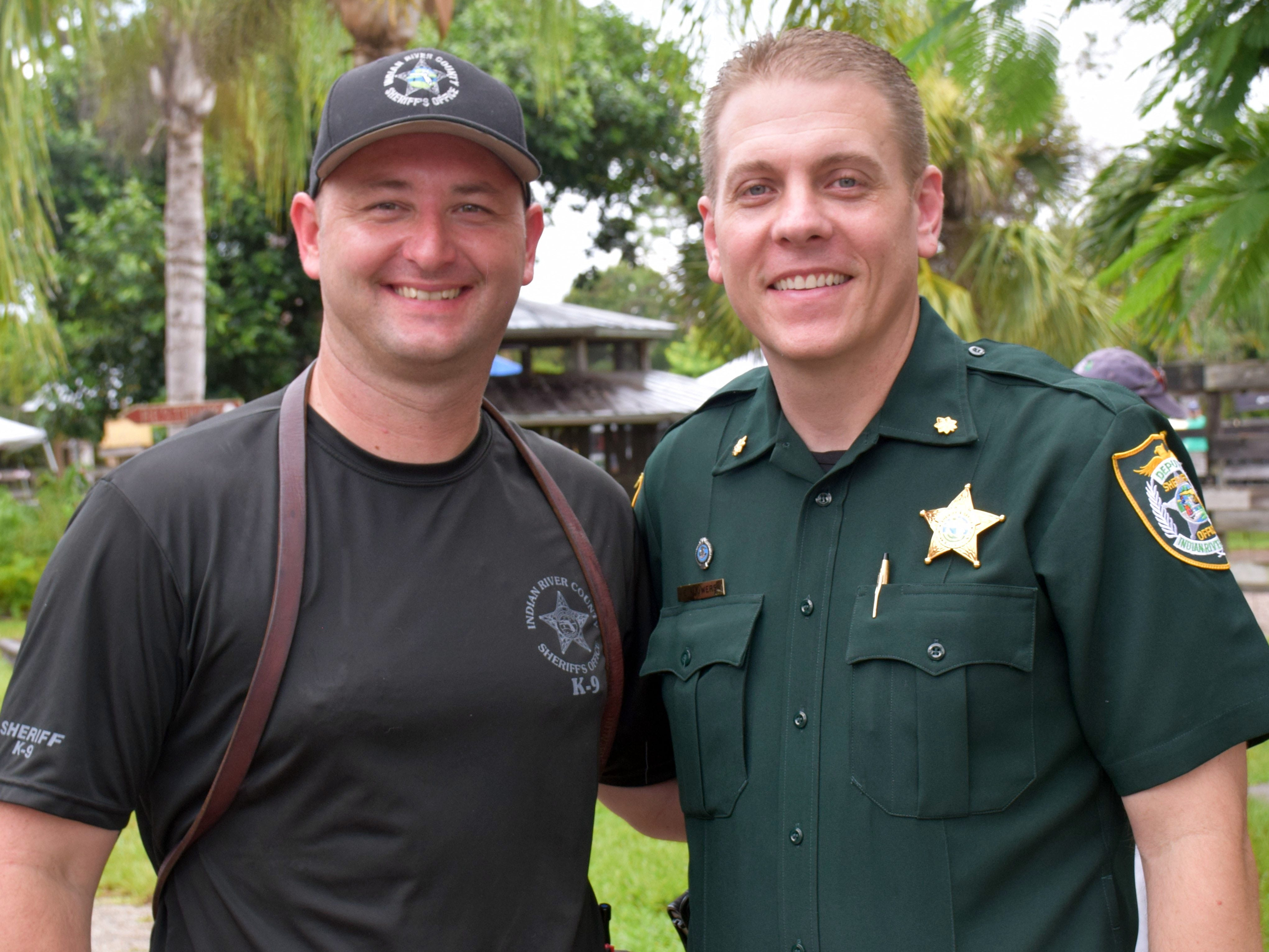 Richard Henson and Eric Flowers of the Indian River County Sheriff's Department.