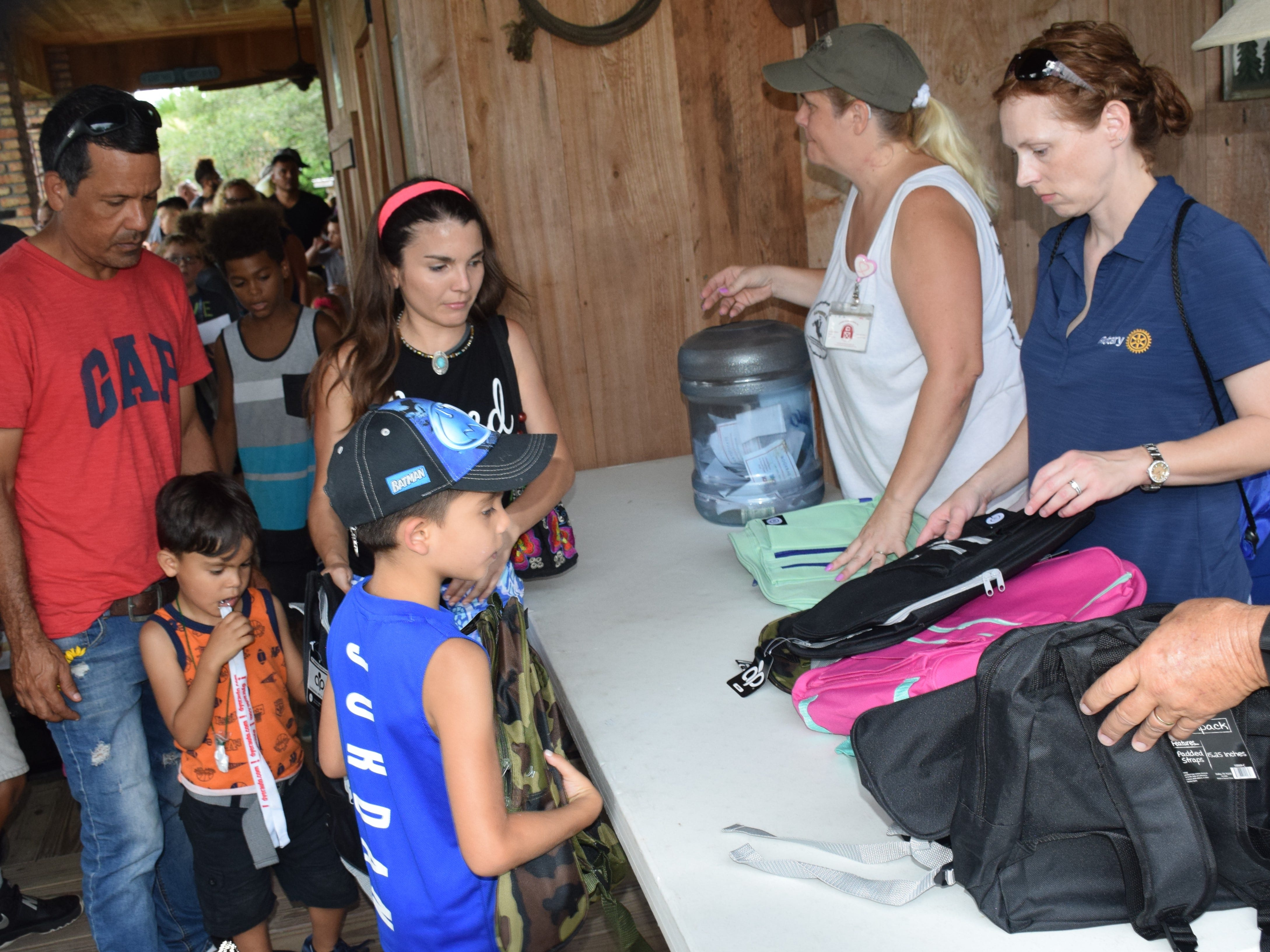 More than 500 backpacks were given away at the event.