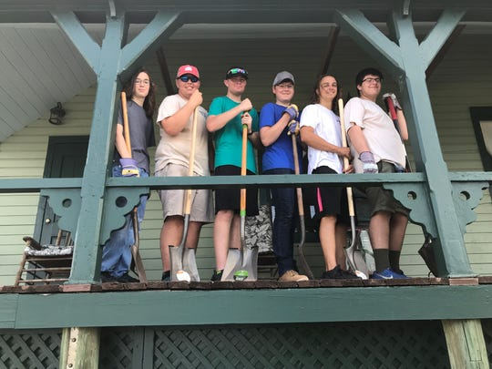 Scouts Ethan Whitney, Graham Marshall, Evan Beaver, Collin Whitney, Jacob Jerome and Russell Crow from Troupe 238 participated in Eagle Scout candidate Graham Marshall's project at the House of Refuge Museum.
