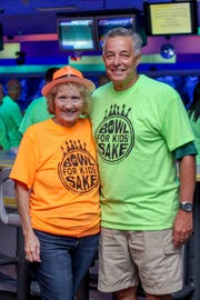 Big Brothers Big Sisters CEO Judi Miller and St. Lucie County Schools Superintendent Wayne Gent at the 2017 Bowl for Kids' Sake