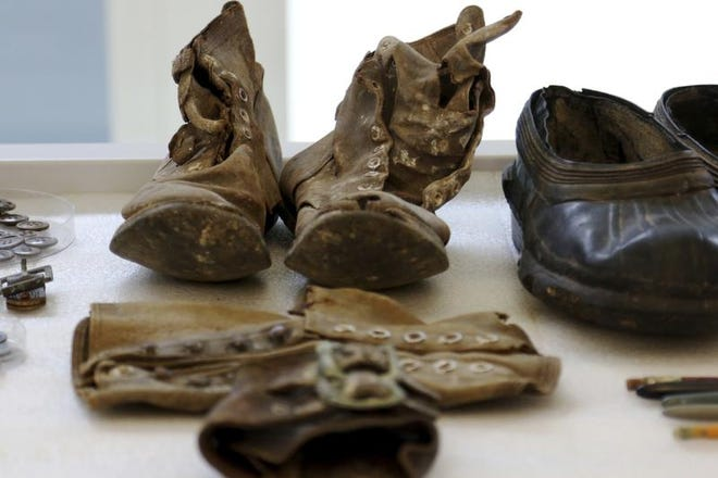 Artifacts from the Korean War are displayed at the U.S. Defense POW/MIA Accounting Agency Laboratory at Joint Base Pearl Harbor-Hickam, Hawaii on Tuesday, July 31, 2018. Human remains handed over to the U.S. government from North Korea are expected to arrive at the lab Wednesday where scientists will begin the process of trying to match the bones to American soldiers who didn't return from the Korean War.