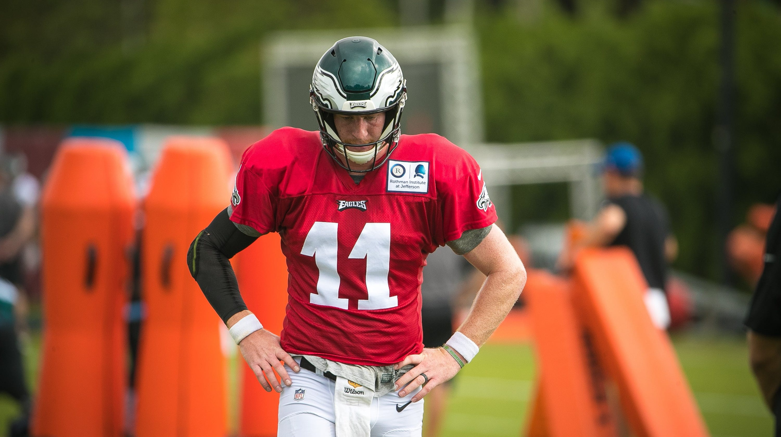 75834c097 Eagles  Carson Wentz held out of Friday practice  Pederson explains why