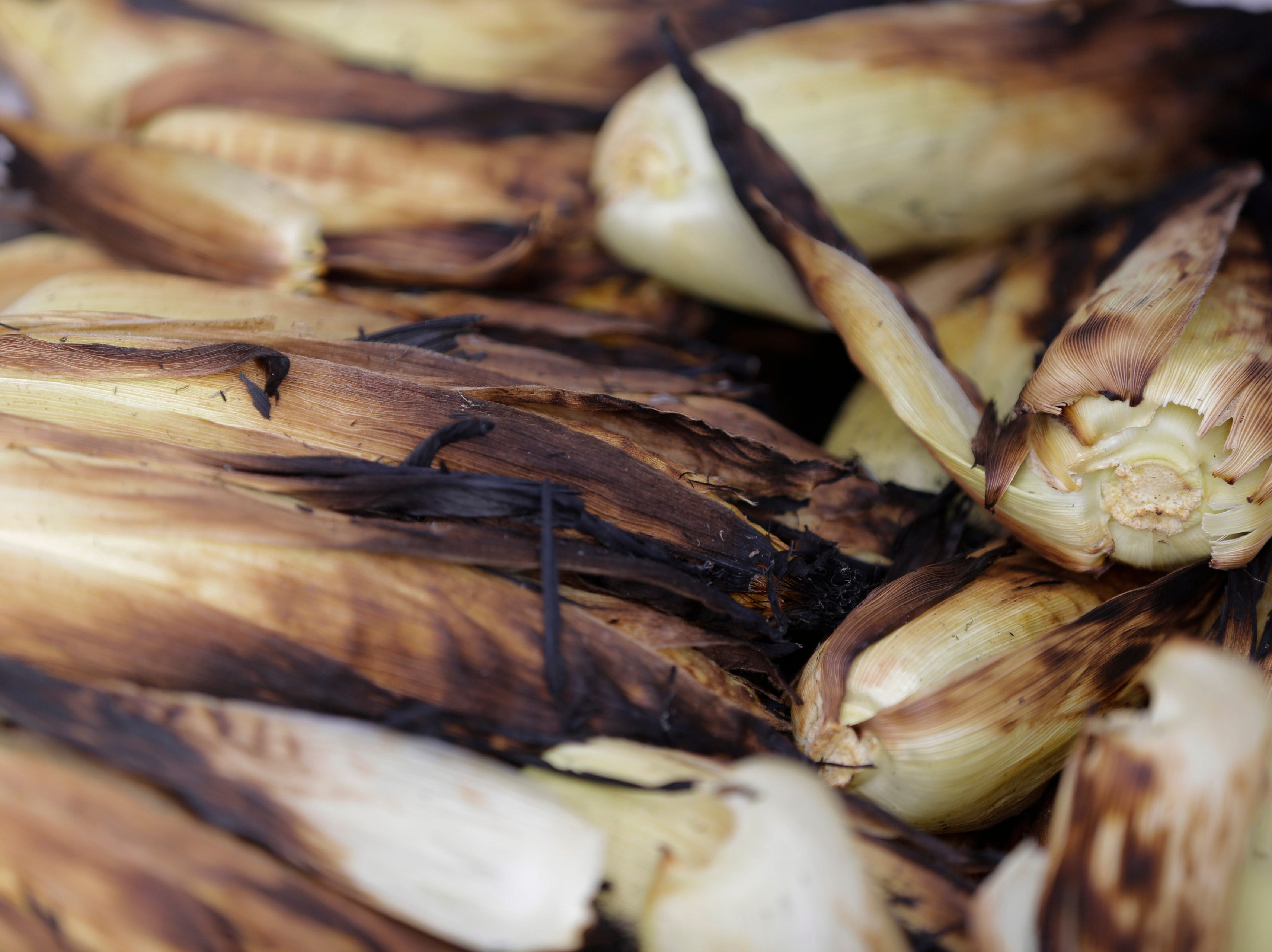 Roasted corn waits to be served at the Wisconsin Rapids community picnic on First Avenue South and Johnson Street Wednesday, August 1, 2018.
