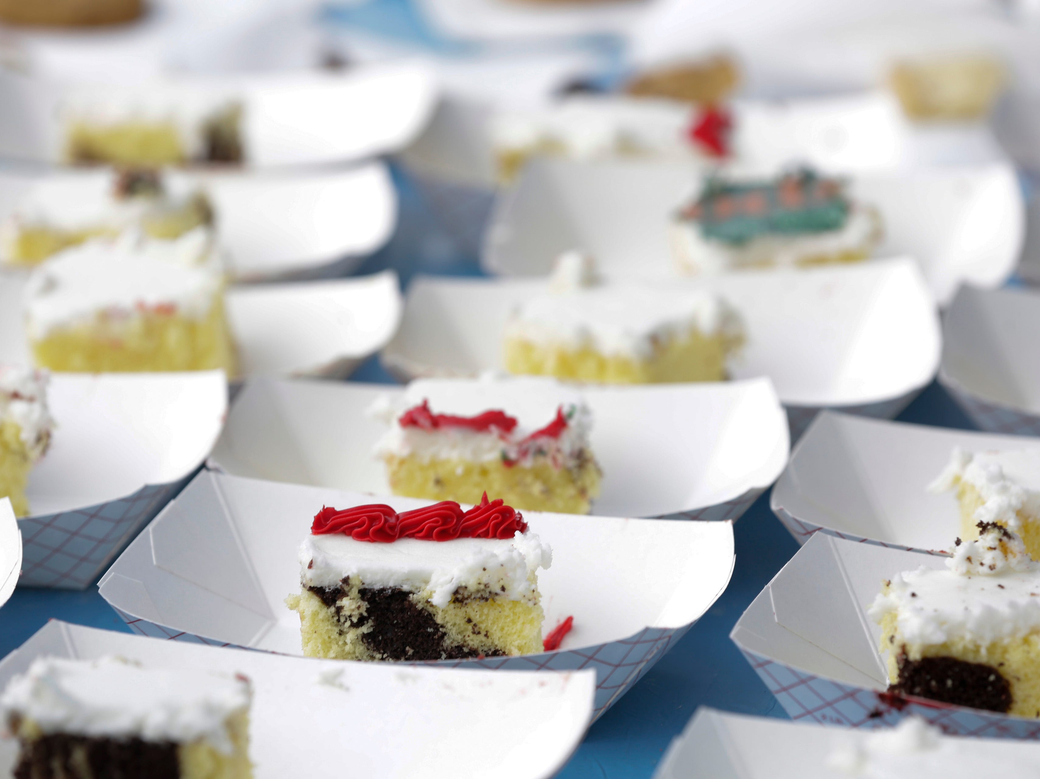 Dessert is served at the Wisconsin Rapids community picnic on First Avenue South and Johnson Street Wednesday, August 1, 2018.