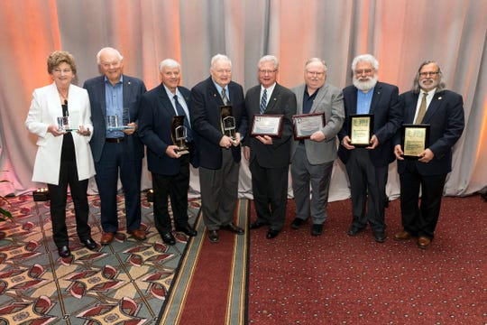 Nominations for Wisconsin Cheese Makers Association 2019 awards are being accepted through Aug. 31. Pictured are the 2018 honorees, (from left) Delores Wheeler, Mark Davis, Gary Grossen, Raymond Dyke, Jim Banks, John Nelson, Dr. David Barbano and Dr. Purnendu C. Vasavada.