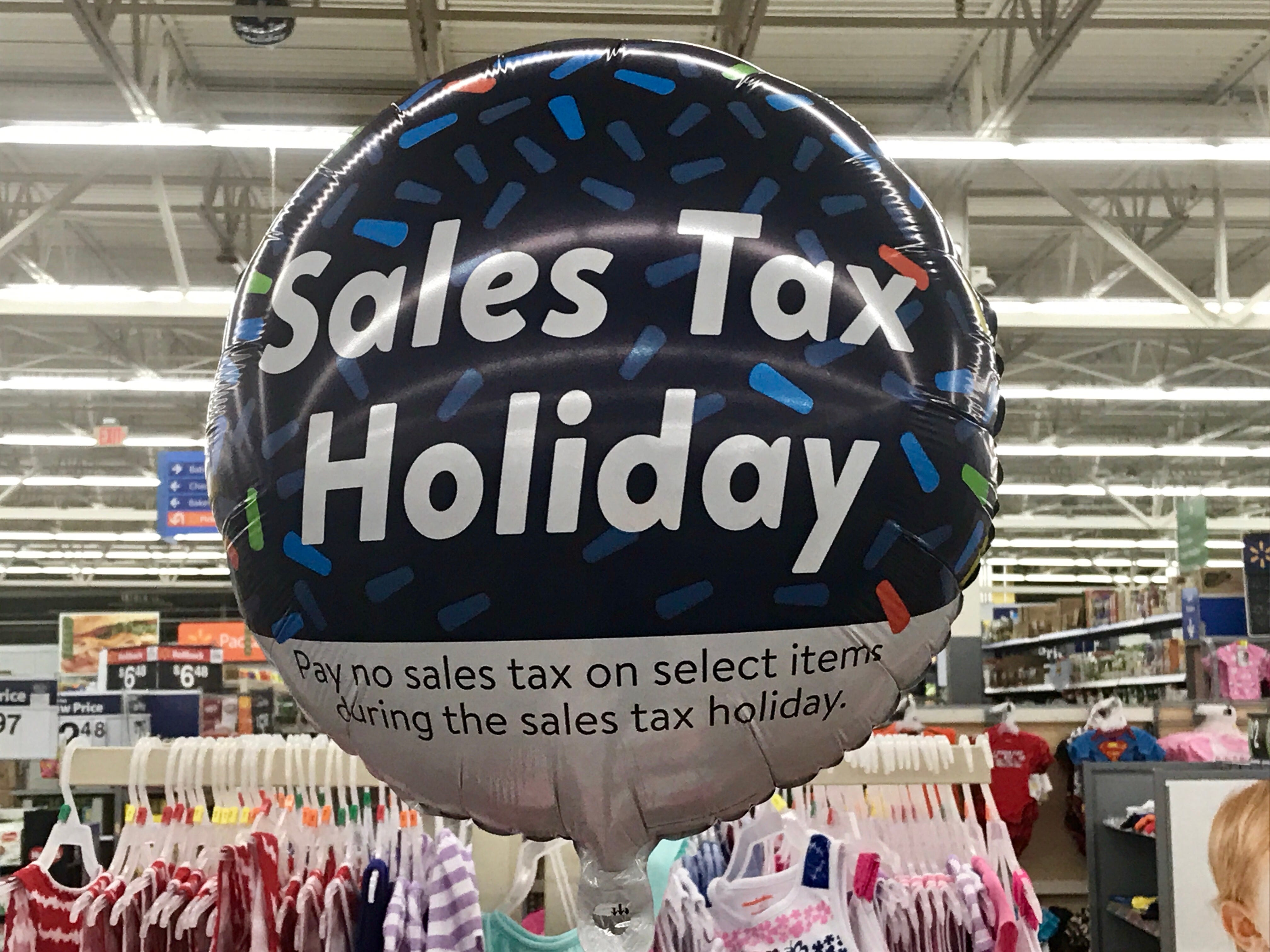 Sales tax holiday balloon