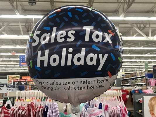 Sales tax holiday balloon