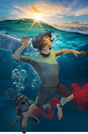 A scene from the National Geographic seven-book children's fiction series, Explorer Academy.