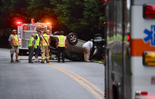 An early morning crash blocked S. McDuffie Street in Anderson County. Thursday, Aug. 2, 2018