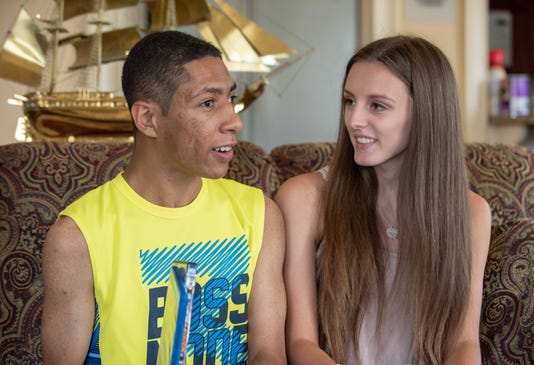 8 01 18 Sophia Ziajski Of Middletown 17 And Michael Frunzy 18 Sophia Has Set Up A Non Profit To Provide Companionship For Teens With Special Needs Michael Is One Of The First To Benefit From This Photo James J Connolly Correspondent